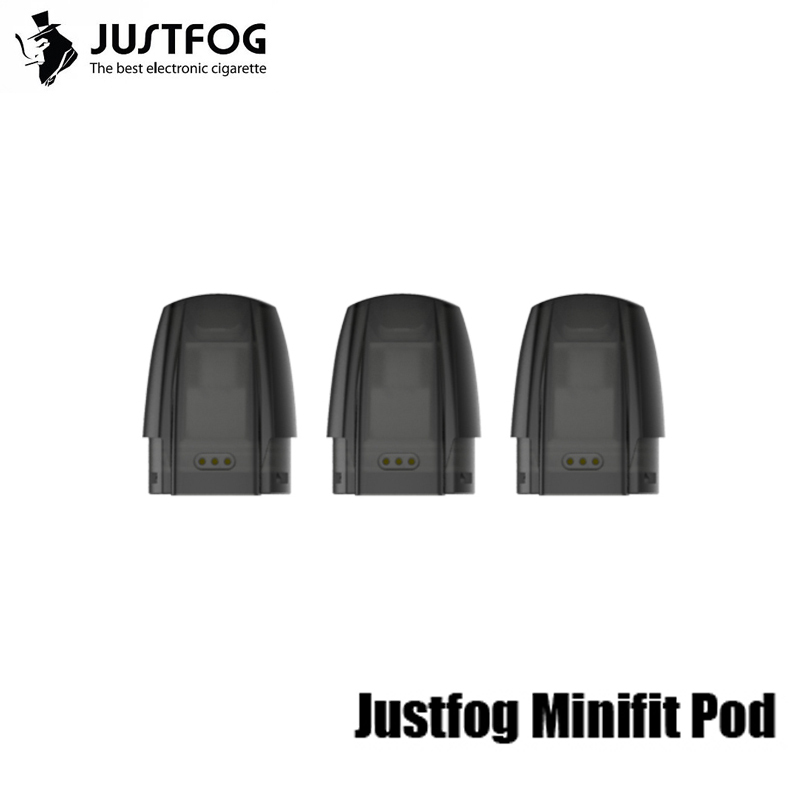 Original JUSTFOG Minifit Ceramic Pod 1.5ml Capacity Fit For JUSTFOG Minifit Vape Kit Replacement Vape Pod 3/6/9/12/30/60pcs