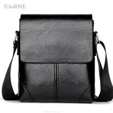 Men Crossbody Bag Fashion Leather Shoulder Bag Casual Black Business Mens Hand bag For Phone High Quality Travel Drop Shipping