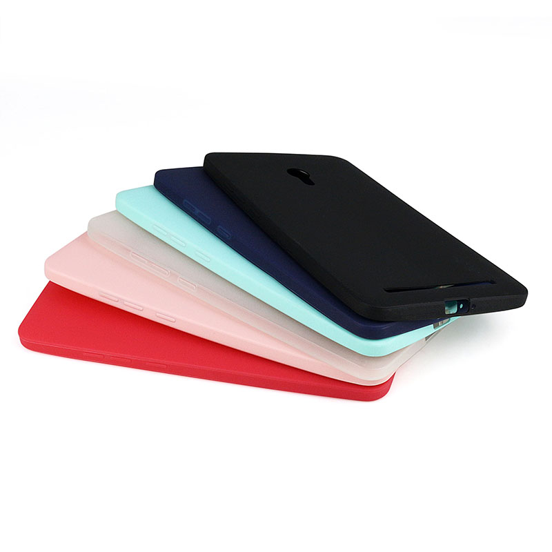 Solid Candy Color TPU Rubber Case Cover for Asus Zenfone 6 Silicon Case Glossy Back Cover for Zenfone 6 Skin