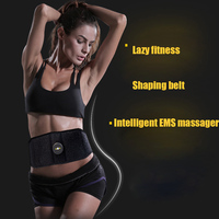 Abdominal Muscle Trainer Vibration Fitness Massager Waist Support EMS Stimulator Body Building Slimming Belt Workout Equipment