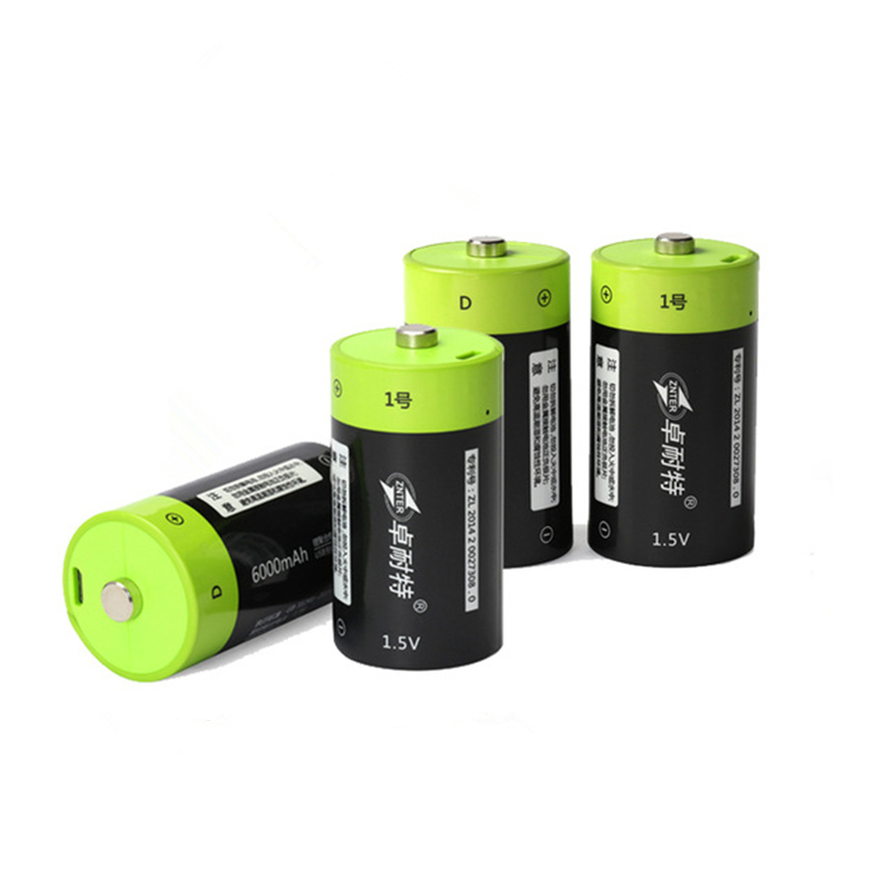 Hot sale 4PCS/LOT ZNTER 1.5V 4000mAh Battery Micro USB Rechargeable Batteries D Lipo LR20 Battery For RC Camera Drone Accessorie image