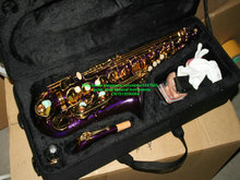 Wholesale New Arrival Purple  Alto Saxophone With Case Free Shipping HOT