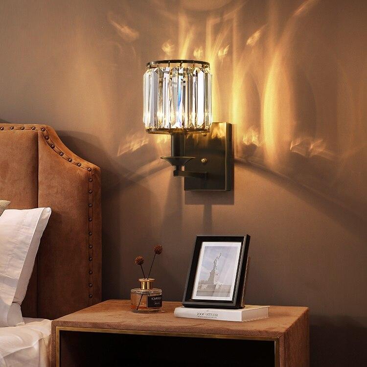 Cuivre mur LED lumières pour la maison mode miroir luminaires appliques modernes applique murale créative cristal appliques lampes Arandela
