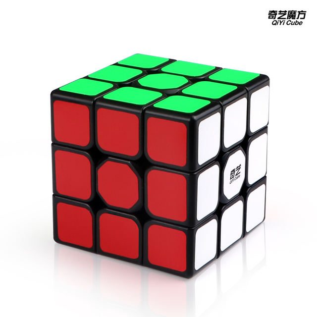 New QiYi Sail W 3x3x3 Speed Magic Cube Black Professional Puzzle Cubes Educational Toys For Children 2