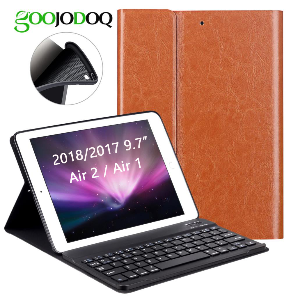 PU Leather Keyboard Case For iPad 9.7 2018 2017 / iPad Air 2 1 Silicone Soft Cover Multiple Folio Stand for iPad 2018 Case 9.7 popular pattern pu leather case with card slots for apple ipad air 2 case folio stand protector skin for ipad air 2 cover 2017