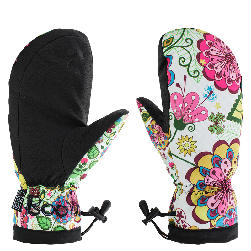 Winter Ski Gloves Women Warm Waterproof Windproof Snow Skiing And Snowboarding Sports Gloves Antislip PU Palm Snowboard Mittens