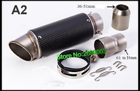 Free Shipping Carbon Fiber ID 61mm Motorcycle Exhaust Pipe With Laser Marking Exhaust For Large Displacement
