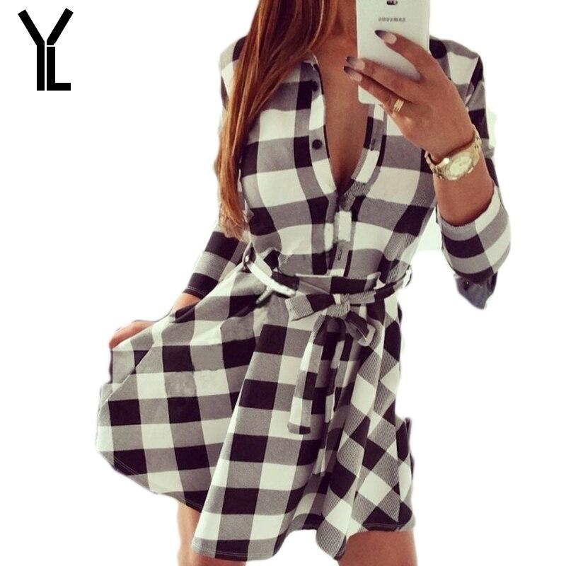 2017 Women Dress Fashion New Style Plaid Dress Casual Black And White  Lattice Sleeveless Bandage Dress ... ec9bb3adc81c