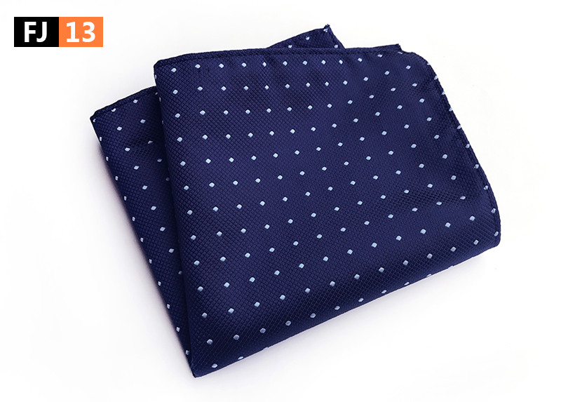 2017 Men Pocket Square Fashion Blue Dots Hanky