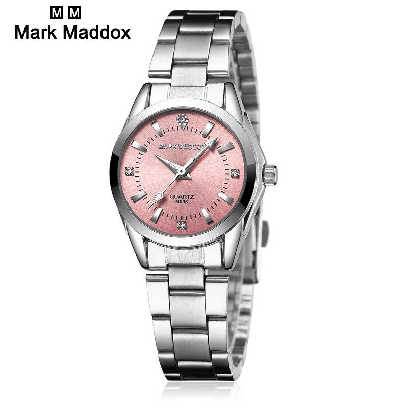 Prix pour Marque maddox Mode de montre femmes Strass quartz montre relogio feminino les femmes montre-bracelet robe M006 montre reloj mujer