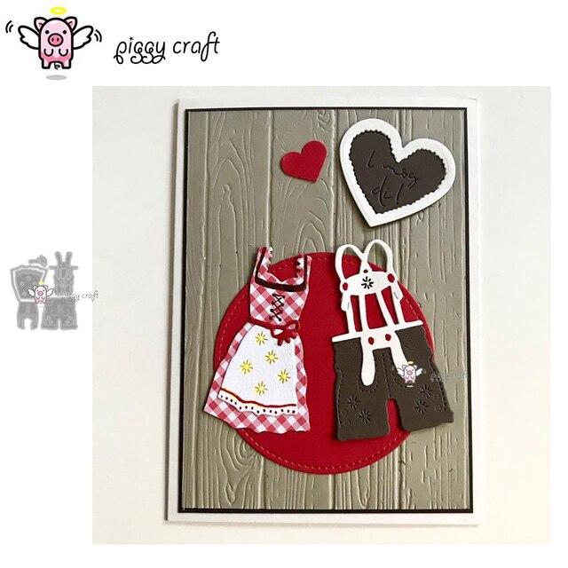 Piggy Craft metal cutting dies cut die mold Skirt overalls decoration Scrapbook paper craft knife mould blade punch stencils die