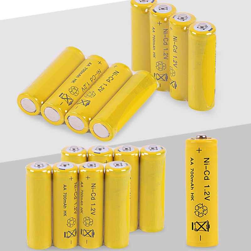 AA Batteries NI-Cd 700Mah 1.2V AA Rechargeable Battery Batteries 2A Bateria Baterias