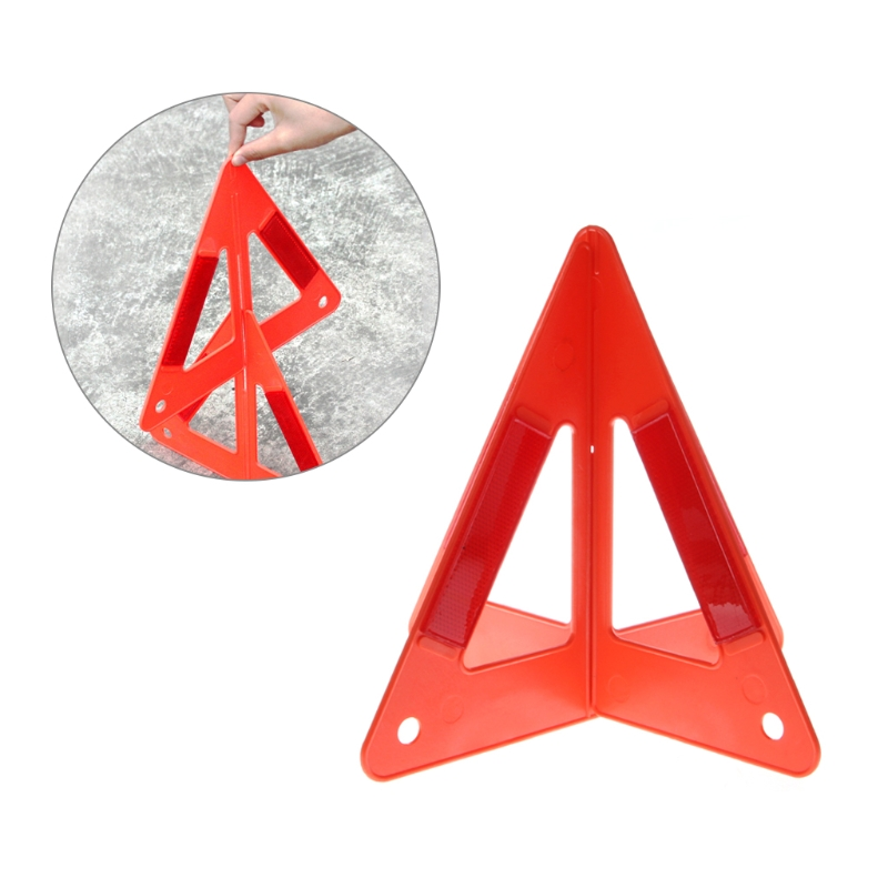 car hazard breakdown warning sign emergency reflective stand folding