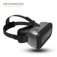 VR SHINECON ALL IN ONE 3D Virtual Reality OTG Glasses 5.5 inch 1080P HD WIFI Bluetooth VR Glasses BOX For VR Games Videos Films