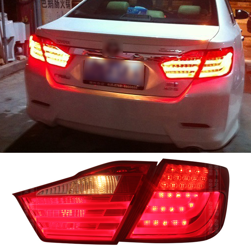 New Car styling LED Rear Lights Kit modification For Toyota Camry 7th 2012 2013 2014 Turning light High quality Free shipping