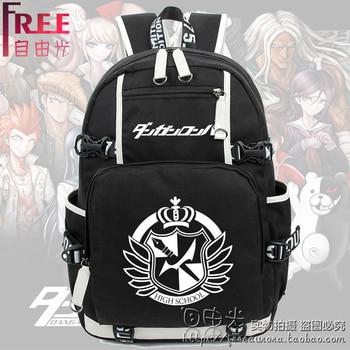 Top Anime Danganronpa monokuma Image print cute cartoon Casual fashion Backpacks Luminous Shoulders schoolbag Mental pollution