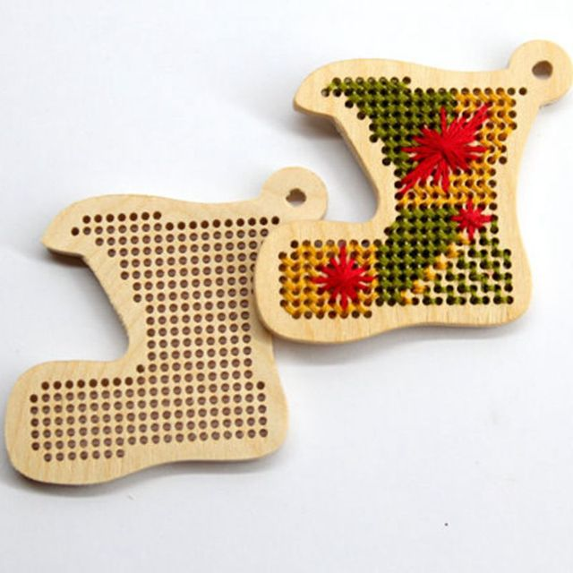 free shipping christmas stockings homemade christmas tree ornament christmas tags cross stitch - Homemade Christmas Stockings