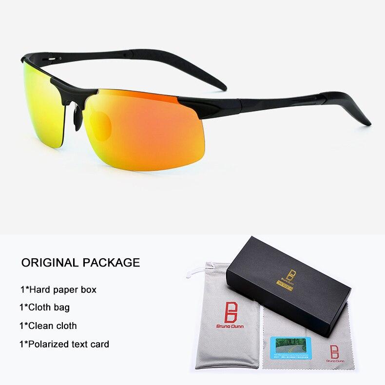 Bruno Dunn Driving polarized Men sunglasses 2020 sports High Quality UV400 Aluminum sun glasses for male oculos de sol masculino 9