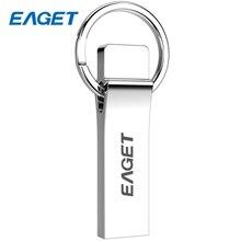 EAGET 128GB Metal USB Flash Drive 32GB USB 3.0 Mini Key Ring PenDrive Disk 64GB Waterproof Shock Memory Flash Stick 16GB U90