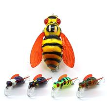 OOTDTY Bee Shape Fishing Insect Lure Water Hard Bait Grass Carp Lures Artificial Baits