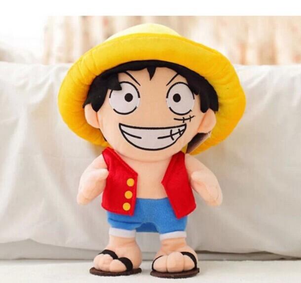 50 cm de una pieza luffy juguetes de peluche muñeca de una pieza de luffy almohada de peluche de juguete mejor regalo de año nuevo para el niño