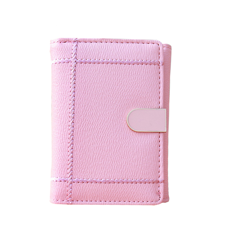 Solid Small Coin Purse Wallet High Quality Cross Pattern 3 Fold Women Short Wallets For Woman Money Bag Purses Womens Wallet