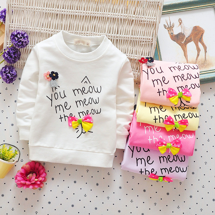 Baby Toddler Kids Girls Spring Autumn T-shirts Audel Cotton Long Sleeve Winter Bottoming Shirts 65-90cm Kids G129