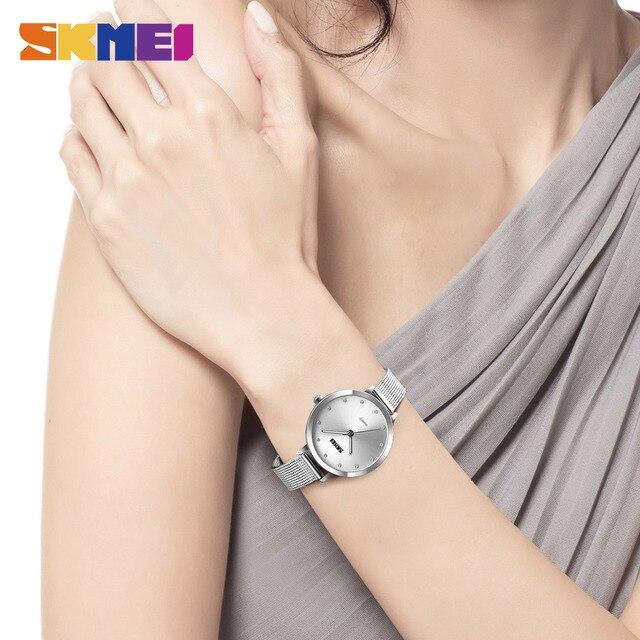 SKMEI Fashion Women Watches Luxury Stainless Steel Strap Quartz Watch Ladies 3bar Waterproof Wristwatches Relogio Feminino 1291 2