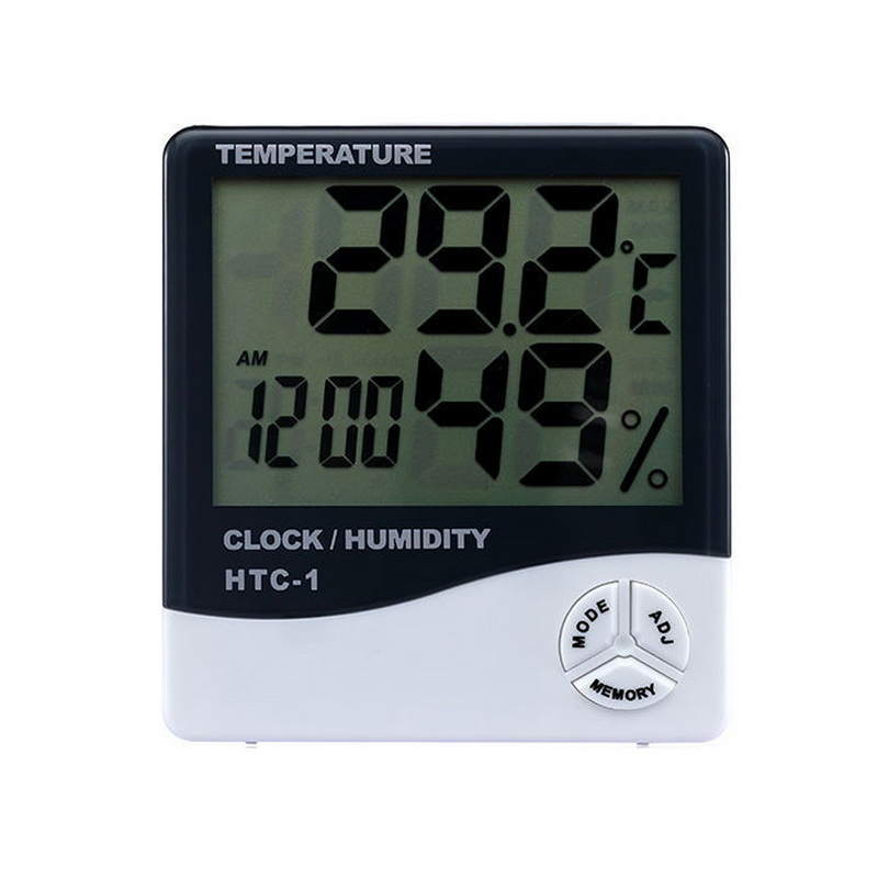 Urijk LCD Digital Temperature Humidity Meter Home Indoor Outdoor hygrometer thermometer Weather Station with Clock
