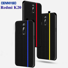 For Redmi K20 Case For Xiaomi mi 9T Mi9T For Redmi K20 Pro Case Original Carbon Fiber PU Leather Shockproof full Back Cover Capa(China)