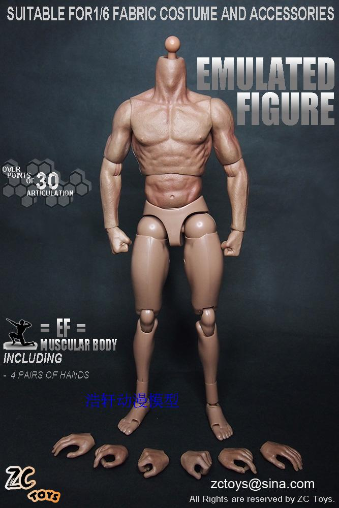 ZC TOYS New Styles 1/6 Scale Military Male Soldier Model Nude Muscular Body Similar to TTM19 Wolverine 12 Action Figure Toys image