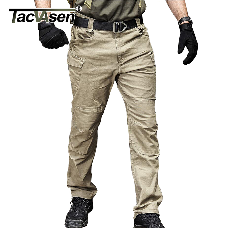 Military Tactical Cargo Pants Men Special Force Army Combat Pants SWAT Waterproof Large Multi Pocket Cotton