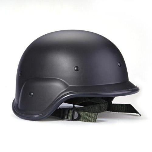 Militaire tactique Swat casque noir protecteur bretelles réglable casque