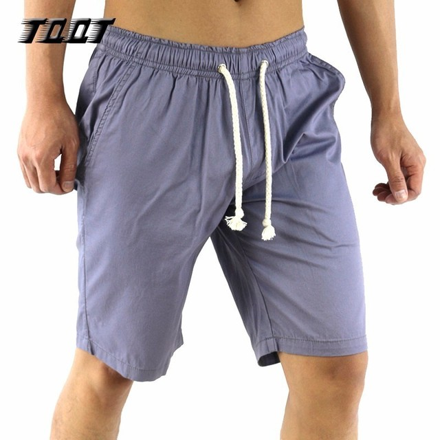 TQQT Mens Shorts Elastic Waist Thin Cargo Short Cotton Material Bermuda Pockets Male Short Bermuda Low Waist Solid Shorts 7P0117
