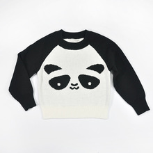 Spring and Autumn explosion models long-sleeved knit shirt jacket with black and white men and women baby children's clothing