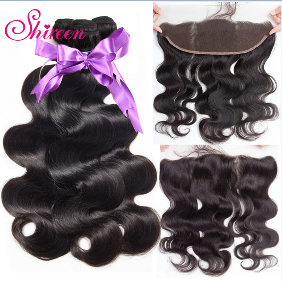 Ear To Ear Lace Frontal Closure With Bundles Peruvian Body Wave Human Hair Bundles With Closure 13