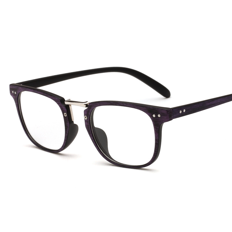 haoyu Plastic + alloy full Plain Glasses frames Retro Vogue ...