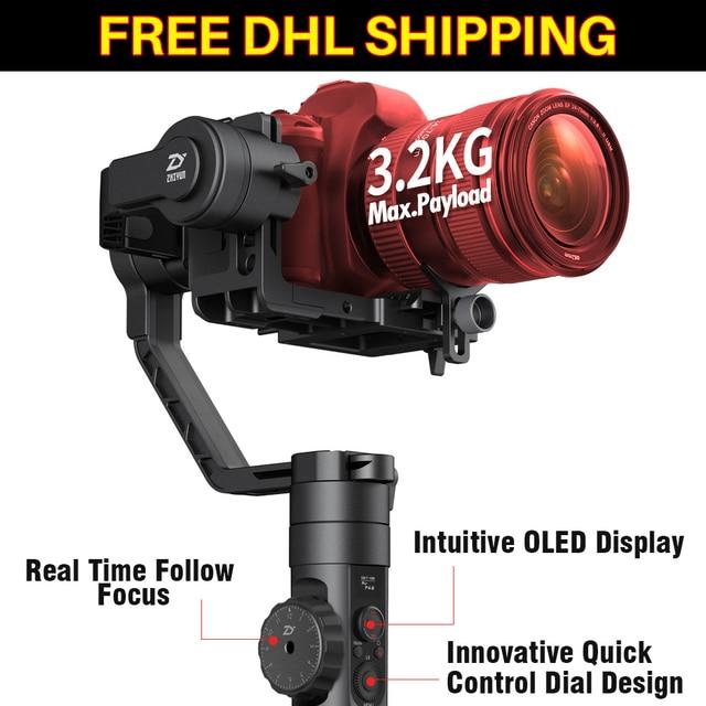 Video Camera Stabilizer >> Ulanzi Zhiyun Crane 2 3 Axis Handheld Gimbal Video Camera Stabilizer