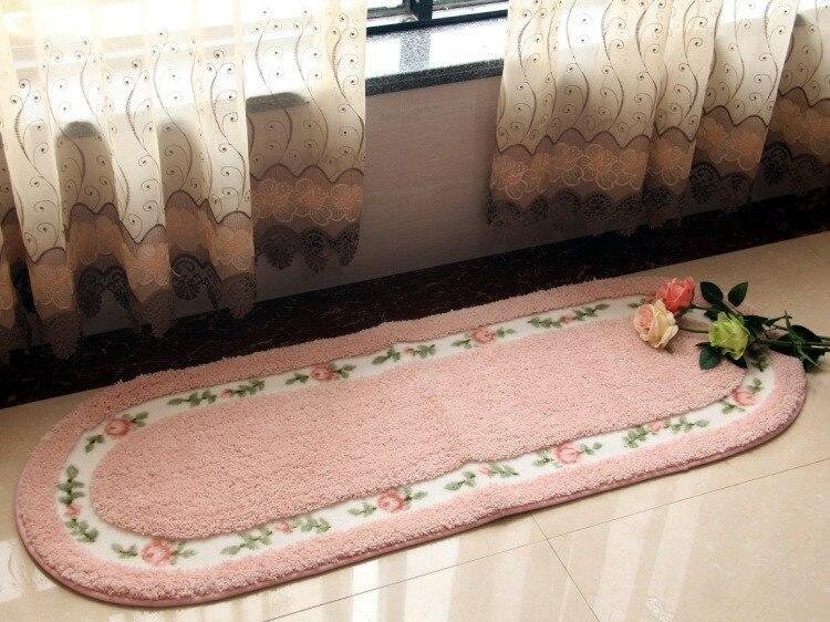 Бесплатная доставка 1 шт. вышитые печати Нескользящие Коврики S большой двери Ванная комната Ковры Спальня дверь мягкой Высокое качество по...