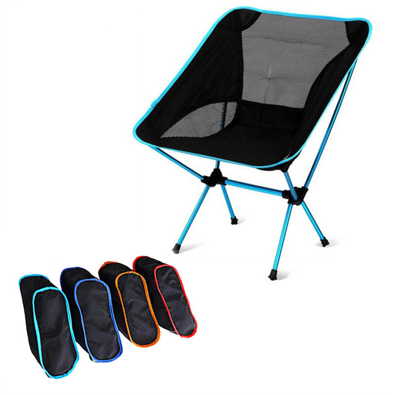 Lightweight Compact Folding Camping Backpack Chairs, Portable Foldable Chair For Outdoor, Beach, Fishing, Hiking, Picnic, Travel