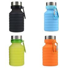 Buy HobbyLane 550ML Outdoor Portable Mini Travel Mug Silicone Folding Portable Travel Outdoor Sports Telescopic Cup Hot Sale directly from merchant!