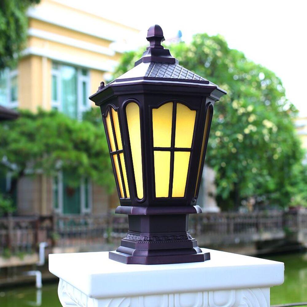 Открытый водонепроницаемый забор глава лампа Европейский открытый сад лампы Пейзаж Сад свет солнечная вилла двери Колонка лампы LU8101107