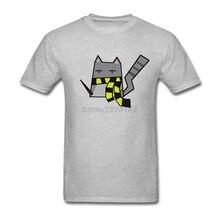Fitness Streetwear T-shirts Maker Men Harry Potter Tees with Hufflepuff Cat men Custom T Shirts Free shipping(China (Mainland))