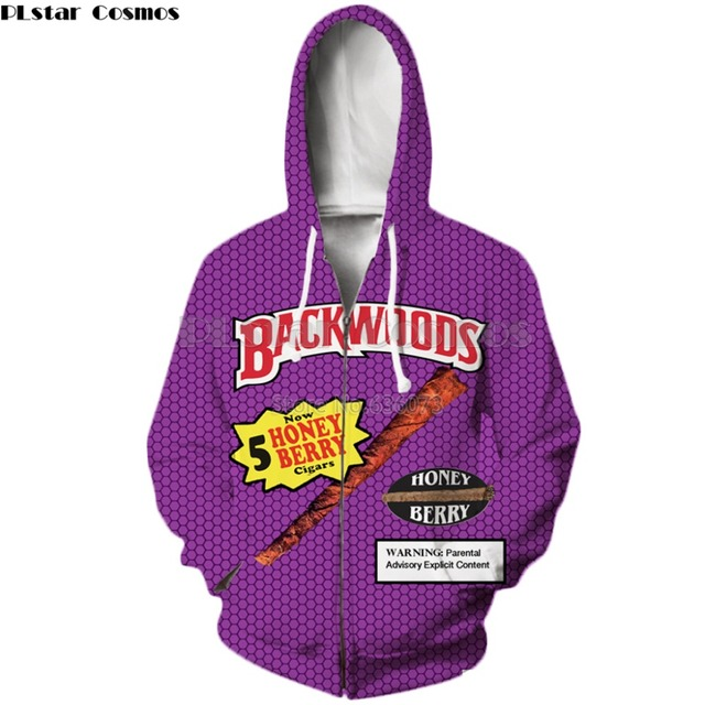 PLstar Cosmos Drop shipping Funny Foods Backwoods Honey Berry 3D Print Fashion Hoodies Womens Mens Casual Hooded Sweatshirt