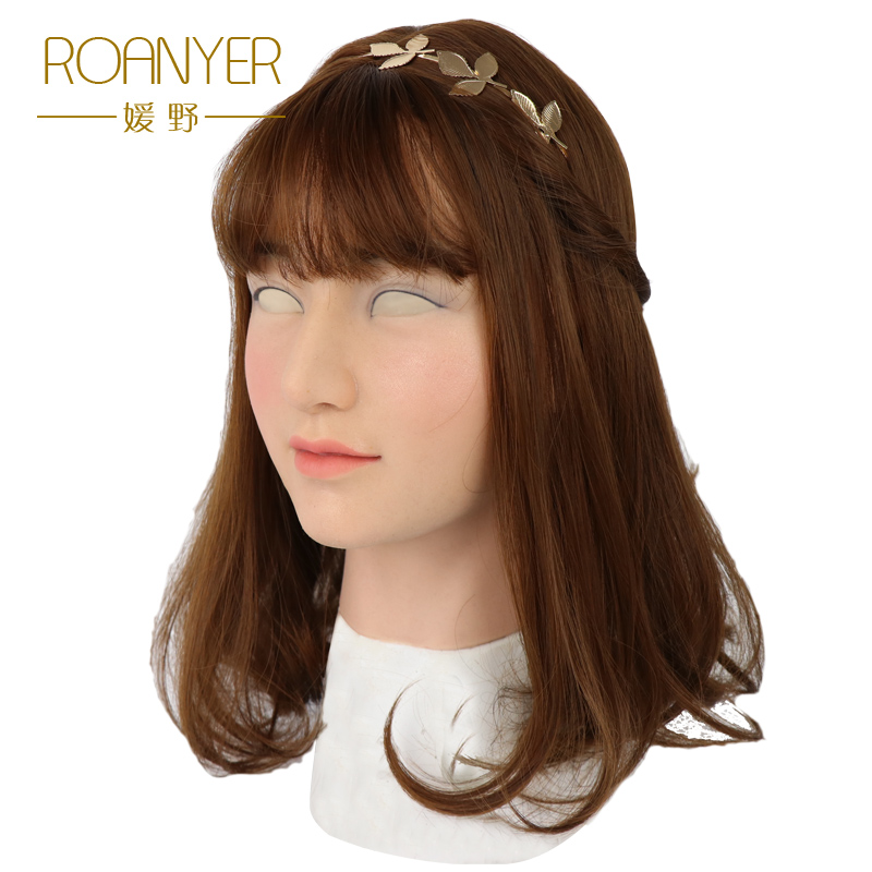Roanyer Sunny crossdresser silicone artificial skin realistic transgender latex sexy cosplay for male halloween party supplies