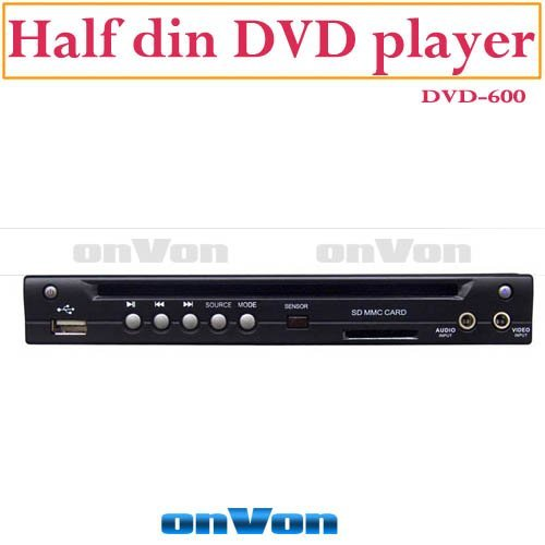 Half Din DVD Player Mounting Multimedia w/t USB/SD Slot