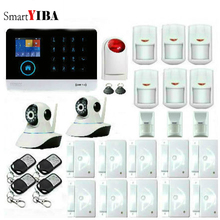 SmartYIBA Hot Selling Free Shipping wifi Wireless GSM Alarm System 433MHz Home Burglar Security Alarm System Touch Keyboard