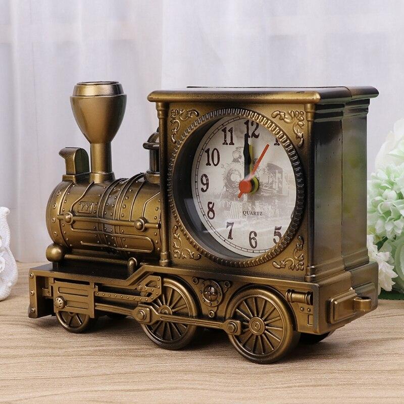 Электронные настольные часы цифровой локомотив Спальня для детей подарок механические часы-будильник творческий классический поезд насто...