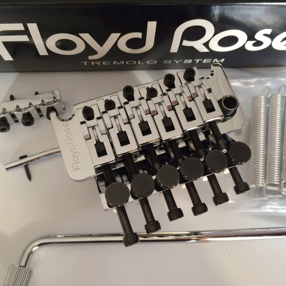 Floyd Rose 1000 Series Electric Guitar Locking Tremolo System Bridge FRT01000 Chrome silver ( with alloy block ) floyd rose 3000 series electric guitar double locking tremolo system bridge frt03000 black without packaging