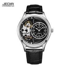 Продвижение Смотреть Мужчины JEDIR Новый Моды Случайные Кожаный Ремень Кварцевые Часы Водонепроницаемый Поддельные Механические часы Relogio Masculino